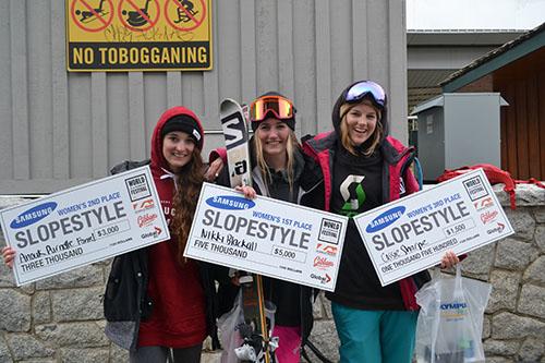Anouk Purnelle, Nikki Blackall and Cassie Sharpe. Credit: Cat Hughes